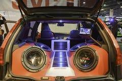 System dźwiękowy nastrajający samochód Obrazy Royalty Free