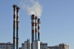 System der Energie und der Heizung Lizenzfreie Stockfotos
