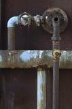 System des alten Rohres Stockbild