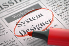 System Designer Job Vacancy. 3D. Royalty Free Stock Photography