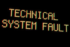 System Error Royalty Free Stock Photos
