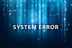 System error. Message on computer background royalty free stock photography