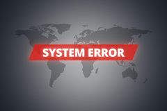 System Error Message on Screen Stock Photo