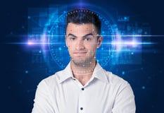 System för ansikts- erkännande arkivfoto