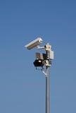System för bevakningkamera Arkivbild