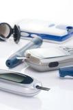 system för blodglukoskontroll Arkivfoto
