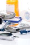 system för blodglukoskontroll Royaltyfri Fotografi