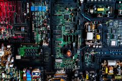 System för bräde för elektrisk strömkrets royaltyfri bild