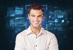 System för framsidaerkännande arkivbild