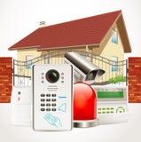 System för hem- säkerhet Royaltyfria Foton
