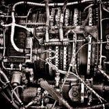 System för ledning för bränsle för helikopterturbinmotor Royaltyfria Bilder