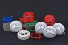 System för säkerhet för brandlarm Arkivfoton