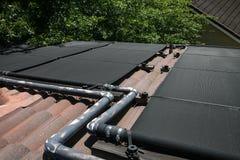 System för sol- uppvärmning Arkivbild