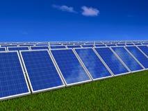 system för sun för gröna paneler för energi sol- Royaltyfria Foton