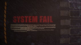 System Fail Signal Alert on an Old Dirty Screen stock video footage