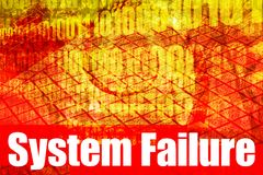 System Failure Alert Warning Message Royalty Free Stock Photo