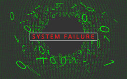 System failure background. Royalty Free Stock Image
