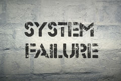 System failure Royalty Free Stock Photos