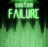 System failure with cyber binary code background Stock Image
