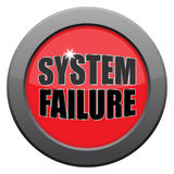System Failure Dark Metal Icon. A system failure icon isolated on a white background Stock Images