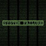 System failure. Digital hacking virus Royalty Free Stock Images