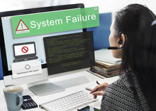 System Failure Error Detection Defeat Concept Royalty Free Stock Photo
