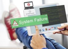 System Failure Error Detection Defeat Concept Royalty Free Stock Image