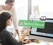 System Failure Error Detection Defeat Concept Royalty Free Stock Images