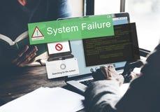 System Failure Error Detection Defeat Concept Stock Images