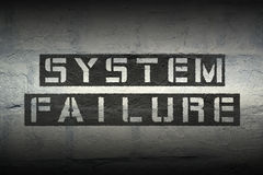 System failure GR Royalty Free Stock Photography