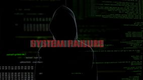 System failure, unsuccessful hacking attempt on server, criminal gets furious. Stock footage stock video footage