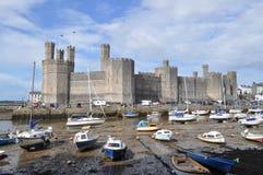 Caernarfon Castle, Wales royalty free stock photo