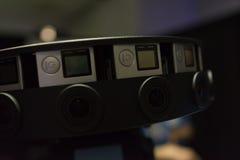 System för Mång--kamera rigg 360 VR Arkivfoton