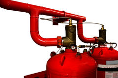 System of a gas fire extinguishing isolated background Royalty Free Stock Image