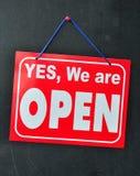 System-geöffnetes Zeichen Lizenzfreie Stockfotografie