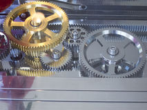A system of gears Royalty Free Stock Photography