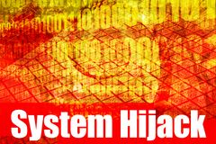 System Hijack Alert Warning Message Royalty Free Stock Images