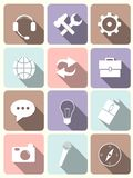 System icons - flat design Stock Photography