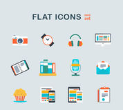 System icons into flat style Royalty Free Stock Photos