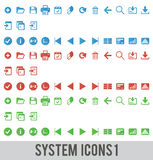 System icons Royalty Free Stock Image