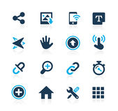 System Icons Interface Azure Series Royalty Free Stock Photo