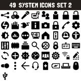 System Icons Set 2 - msidiqf. 49 System Icons Set 2 Vector - msidiqf vector illustration