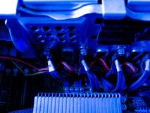 System im Server- und Serverdatenraum Stockbild