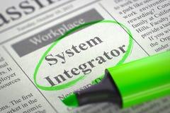 System Integrator Job Vacancy. 3D. Stock Image