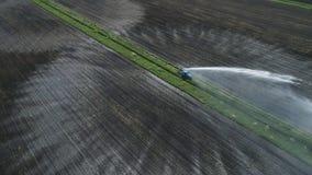 System irygacyjny na gruncie rolnym Obraz Royalty Free