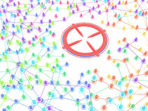 System Link Colors Target Ring Royalty Free Stock Images