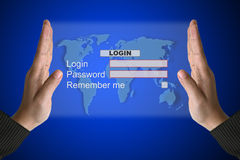 System Login interface Royalty Free Stock Images