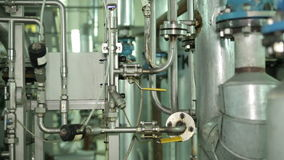 The System in Manufacturing Metal Pipe. Metal Pipe The System in Manufacturing of Vegetable Oils. Purifying System stock footage