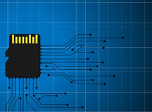 System memory digital micro background Royalty Free Stock Photography