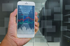 System monitoring by smart phone Royalty Free Stock Images